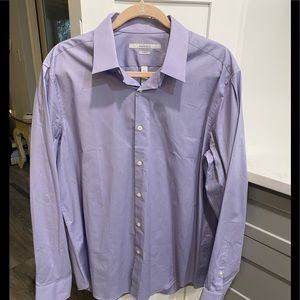 Perry Ellis lavender colored button up large